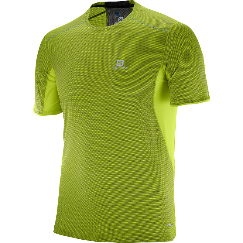 Trail Runner Short Sleeve Tee Lime Green/Black