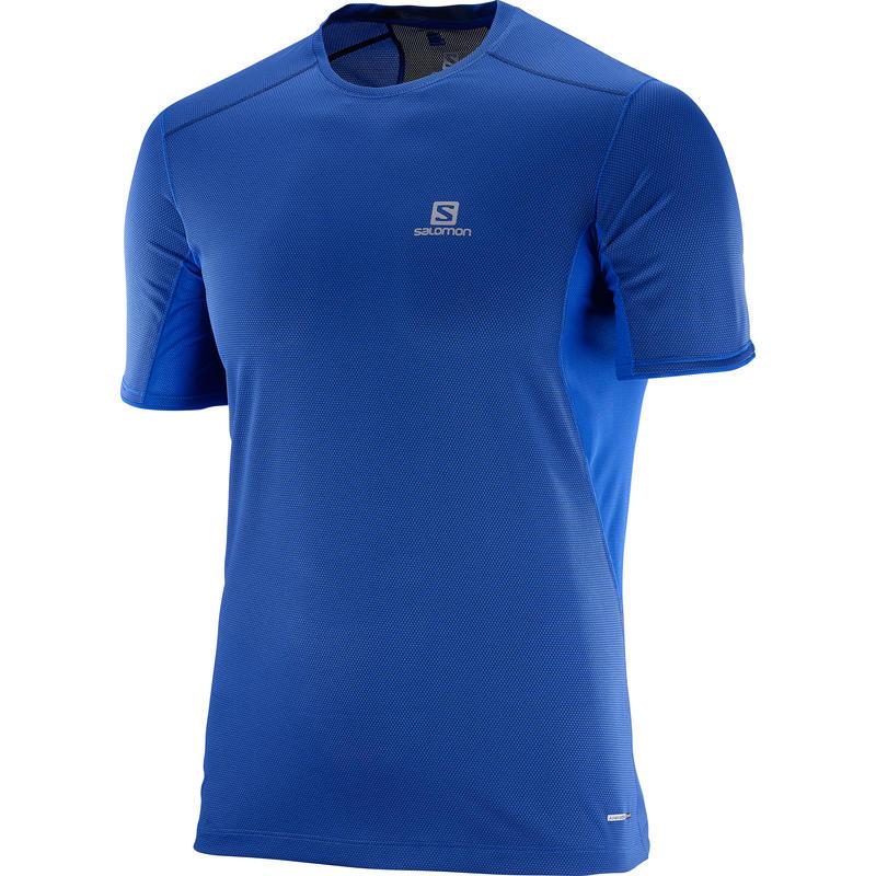 Trail Runner Short Sleeve Tee Surf the Web/Dress Blue