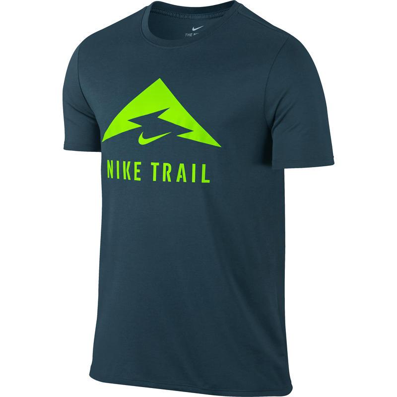 T-shirt Dry DBL Trail Bleu renard/Vert électro