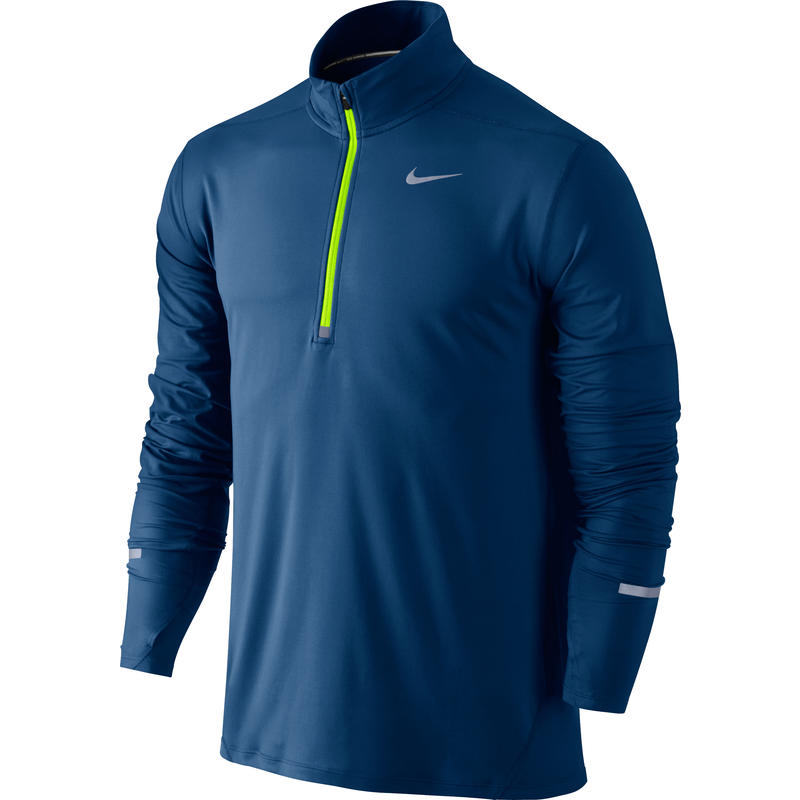 Dri-Fit Element Half Zip Binary Blue/Heather/Electric Green