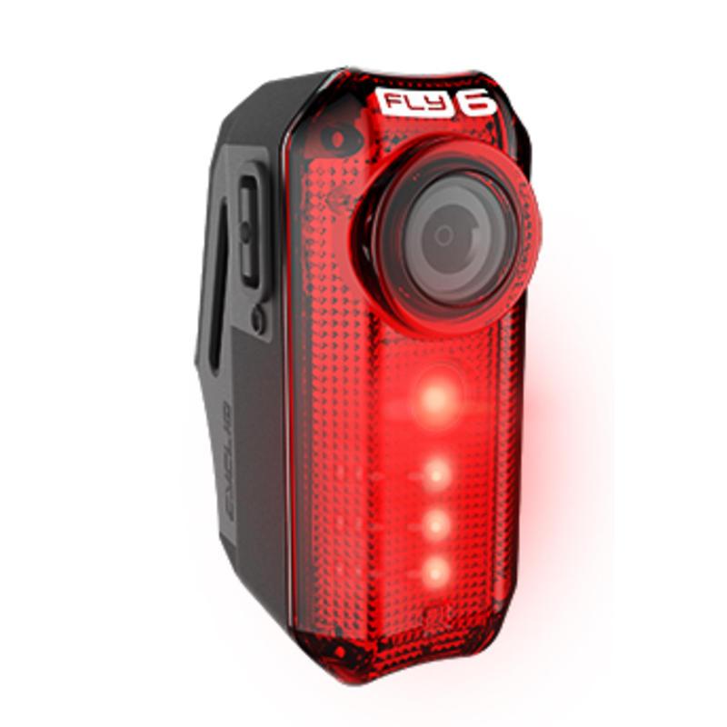 Caméra arrière HD Cycliq FLY6/Feu arrière Noir/Rouge