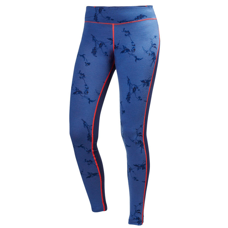 Wool Graphic Pants Evening Blue Symbios Print