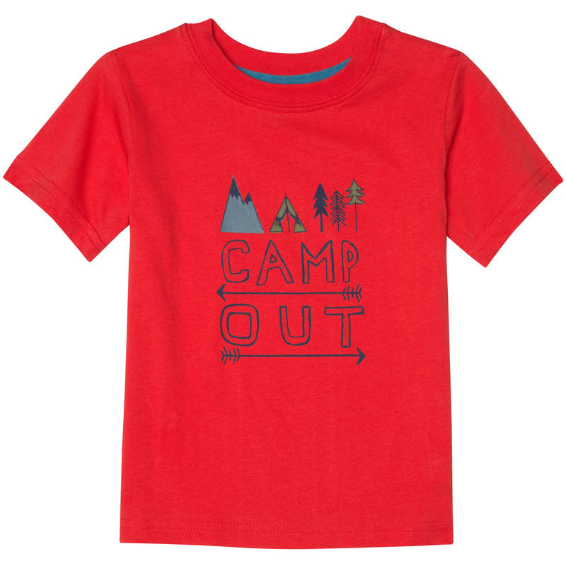 Jaden Short Sleeve T-Shirt Victory Red Camp Out Graphic