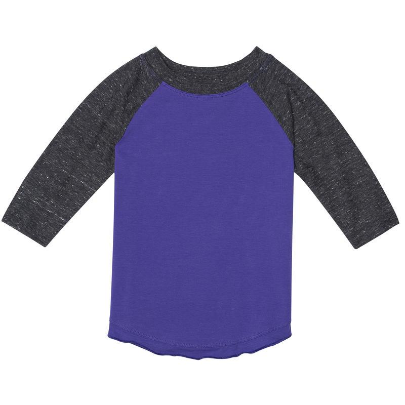 Dream Weaver Long Sleeve Tee Viola/Coal Heather