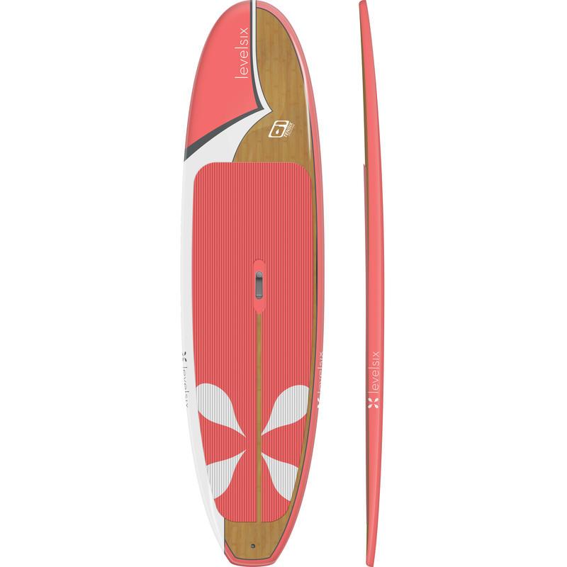 Surf à pagaie Ten-Six Hibiscus/Bambou