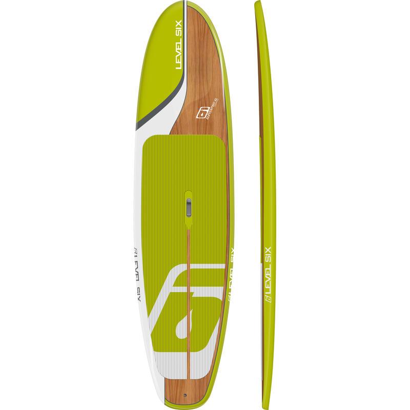 Surf à pagaie Eleven Two Xl Citron/Noyer