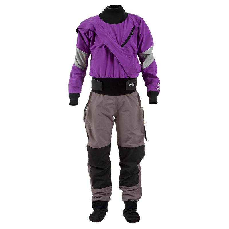Gore-Tex Meridian Dry Suit w/Socks& Drop Seat Purple/Grey