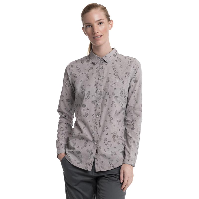 Lupin LS Shirt Asphalt Chambray Vintage Floral Print