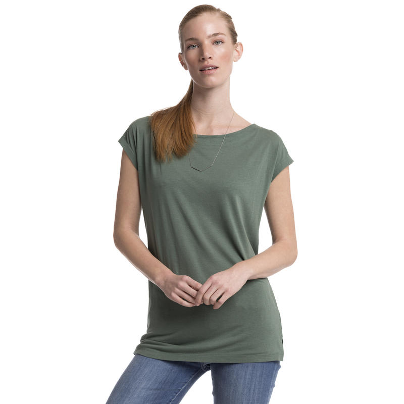 Marikea Short-Sleeved Top Mineral Green Heather