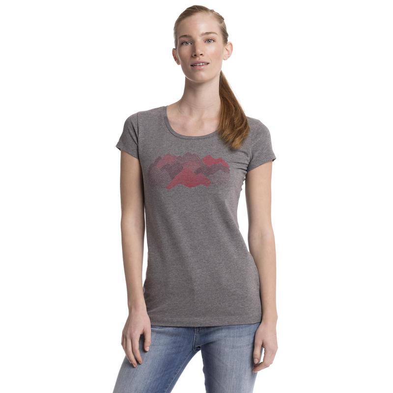 T-shirt New Beginnings Graphique croquis montagne chiné gris foncé