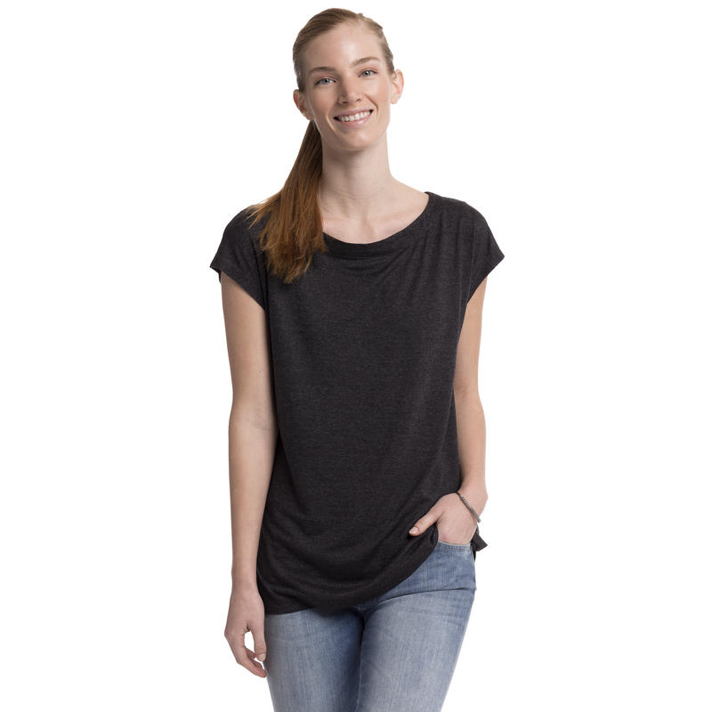 Marikea Short-Sleeved Top Black Heather