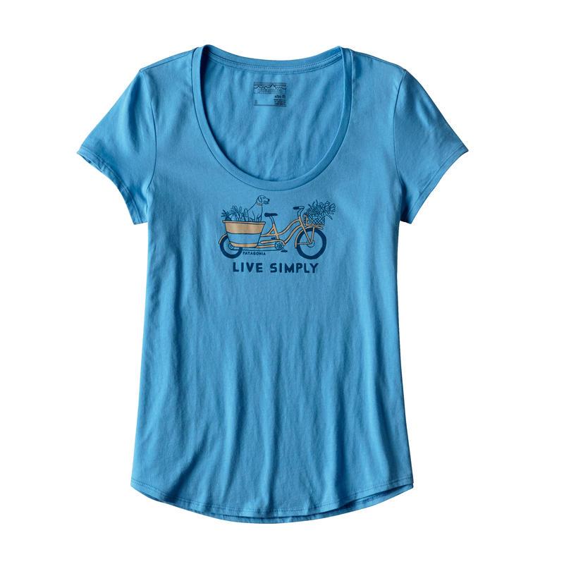 T-shirt Live Simply Market Bike Tee Bleu radar