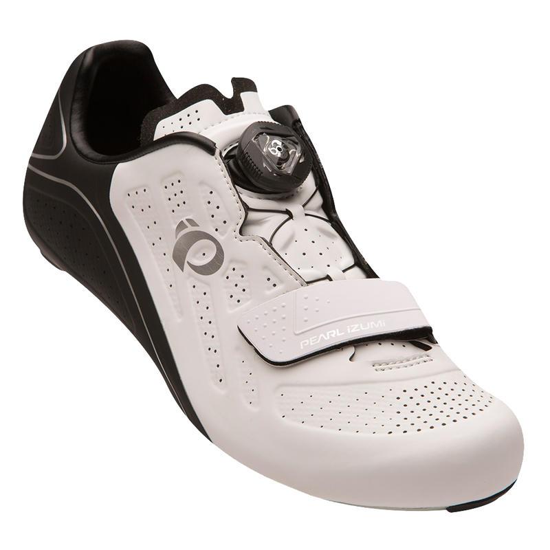 Chaussures de vélo Elite Road V5 Blanc/Noir