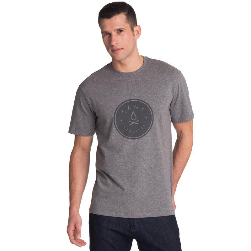 T-shirt Graphic Progression Graphique Camp Together chiné gris foncé