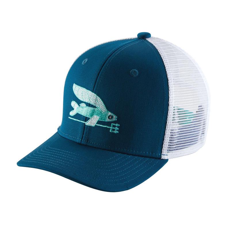 Casquette Trucker Pêche à la mouche au large/Bleu Big Sur