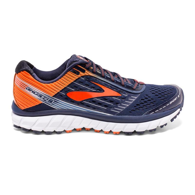 Chaussures de course sur route Ghost 9 Caban/Rouge orangé