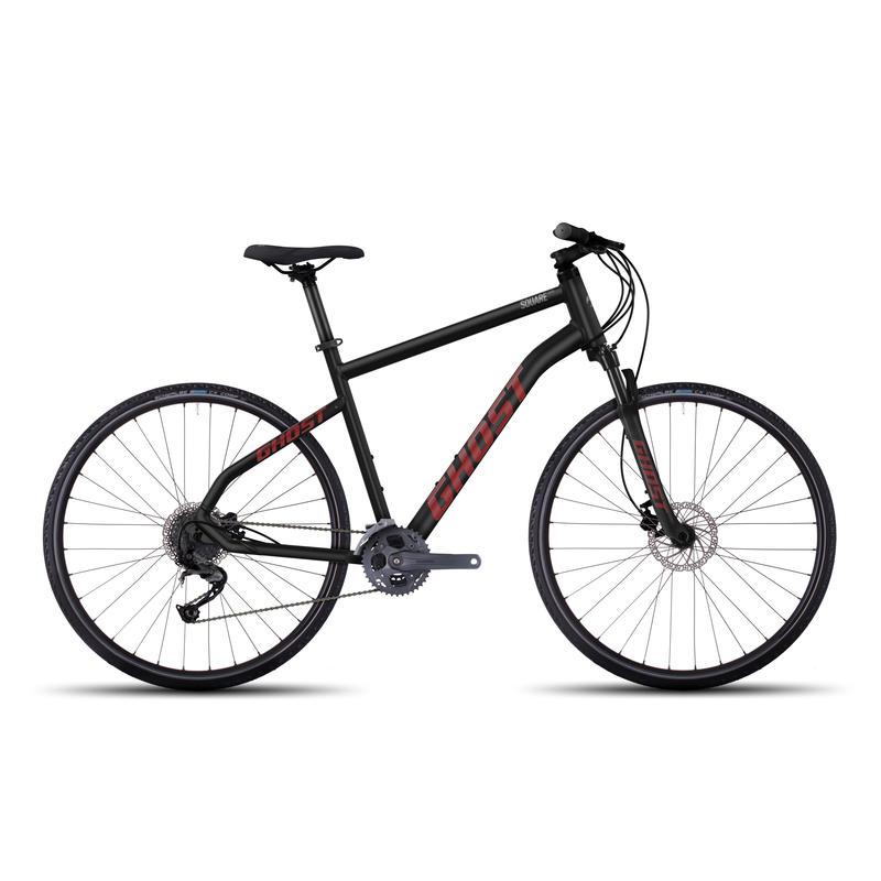 Vélo Square Cross 4 Nuit noire/rouge néon