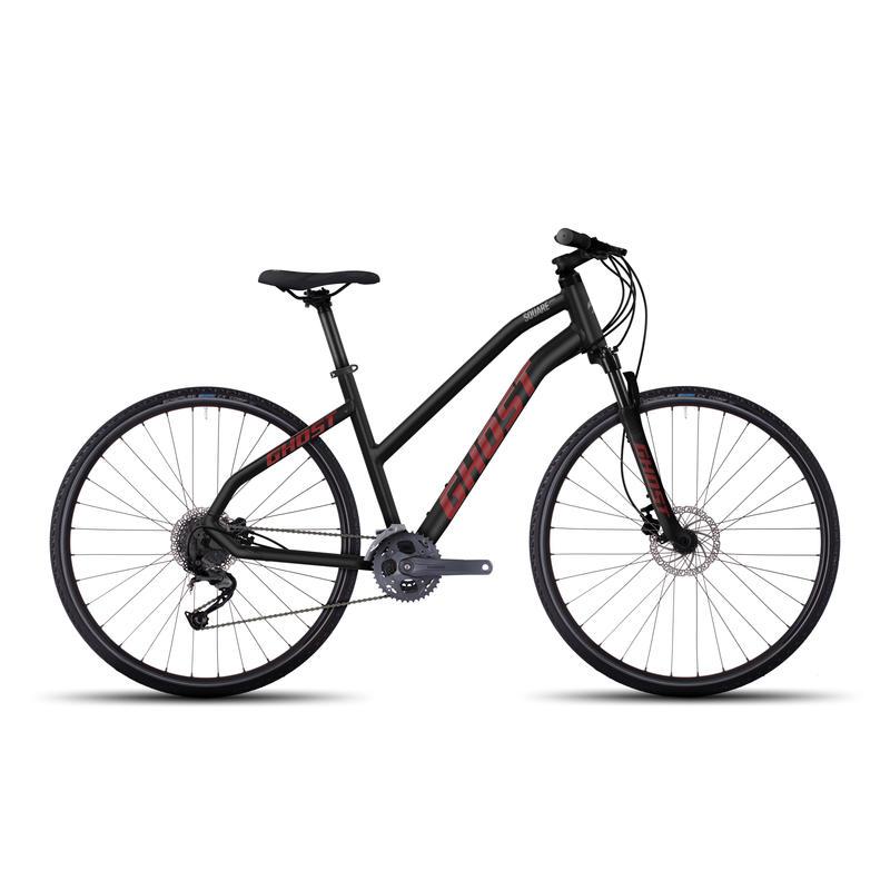 Vélo Square Cross 4 Noir nuit/Rouge néon