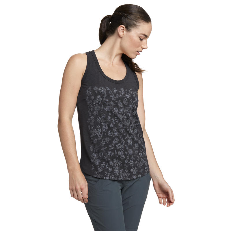 Sparrowgrass Sleeveless Top Eclipse Vintage Floral Graphic