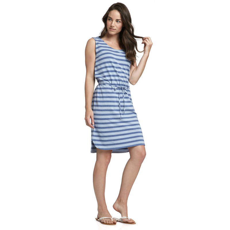 Mandoline Dress Dusty Blue-Marlin Heather Sadie Stripe