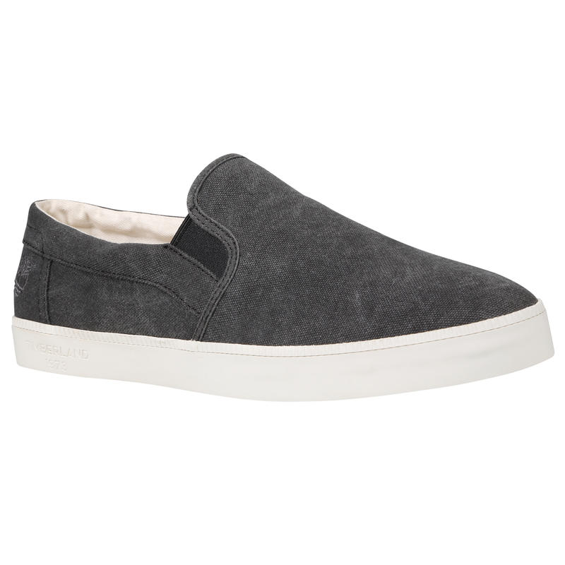 Newport Bay Slip-On Shoes Black Canvas