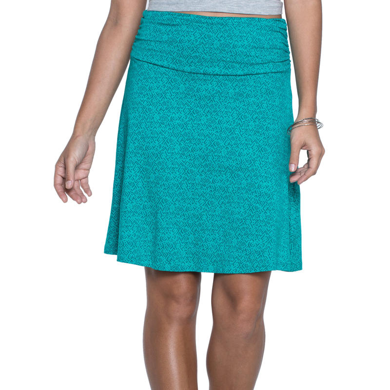 Chaka Skirt Turquoise Cove Geo Print