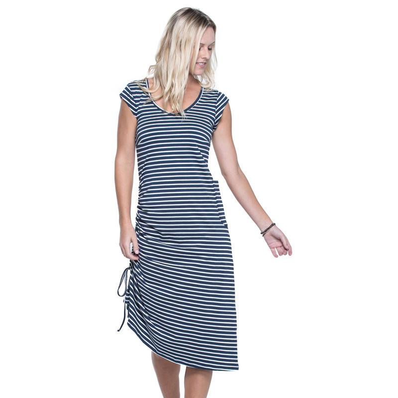 Muse Dress Deep Navy Balanced Stripe