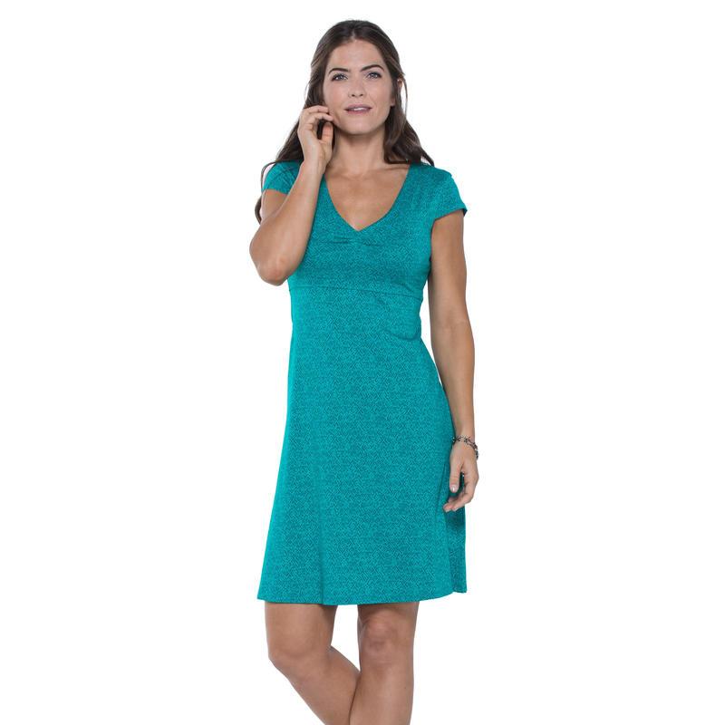 Rosemarie Dress Turquoise Cove Geo Print