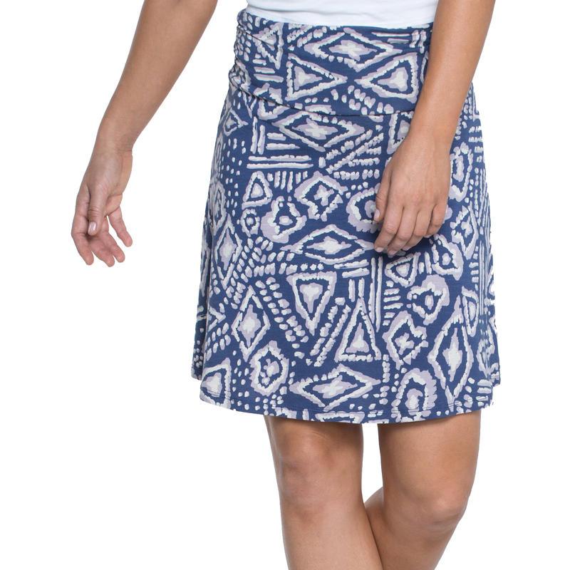 Chaka Skirt Indigo Brush Print