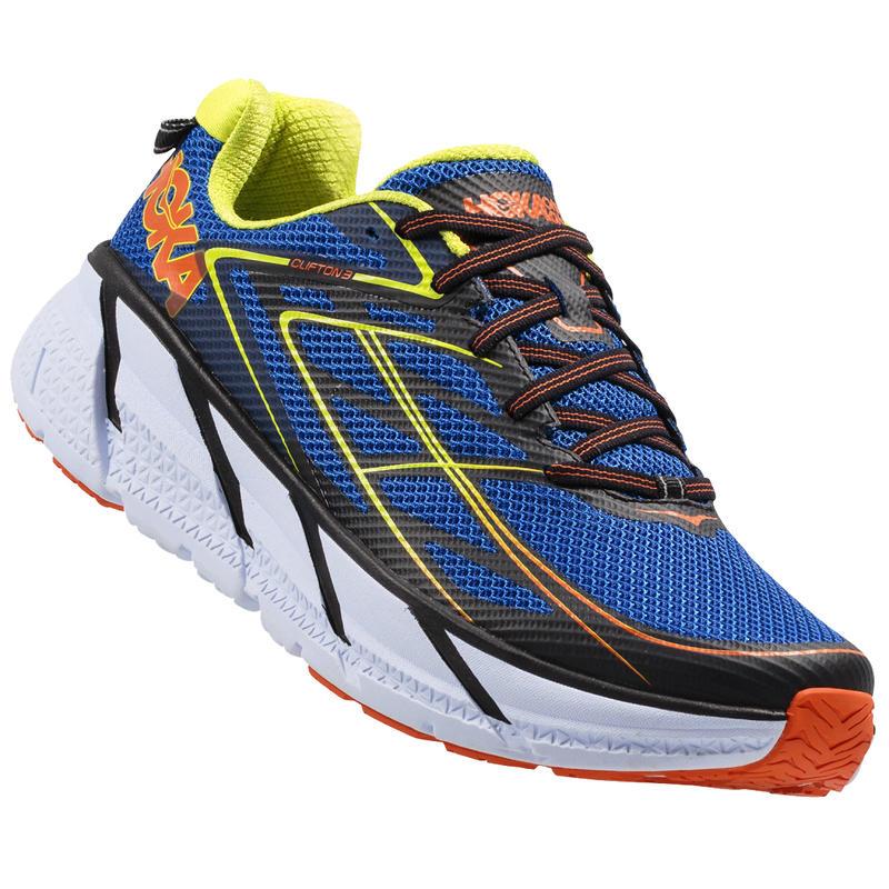Chaussures de course sur route Clifton 3 Bleu/Rouge orange