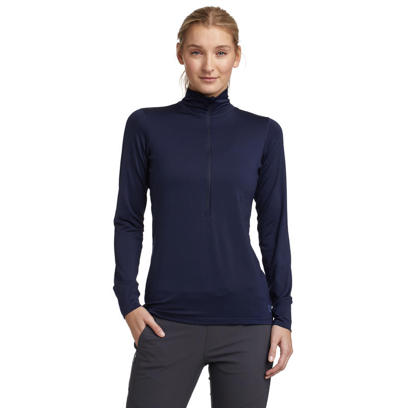T1 Long-Sleeved Zip-T Midnight Blue
