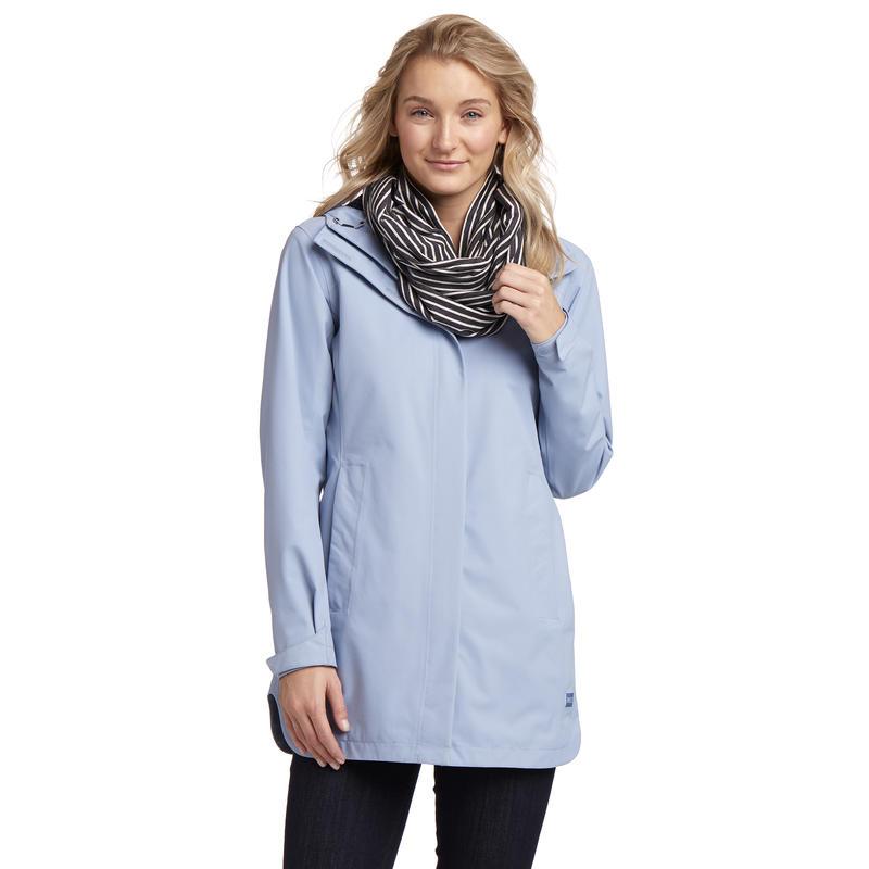 Manteau imperméable Nola Bleu voilé