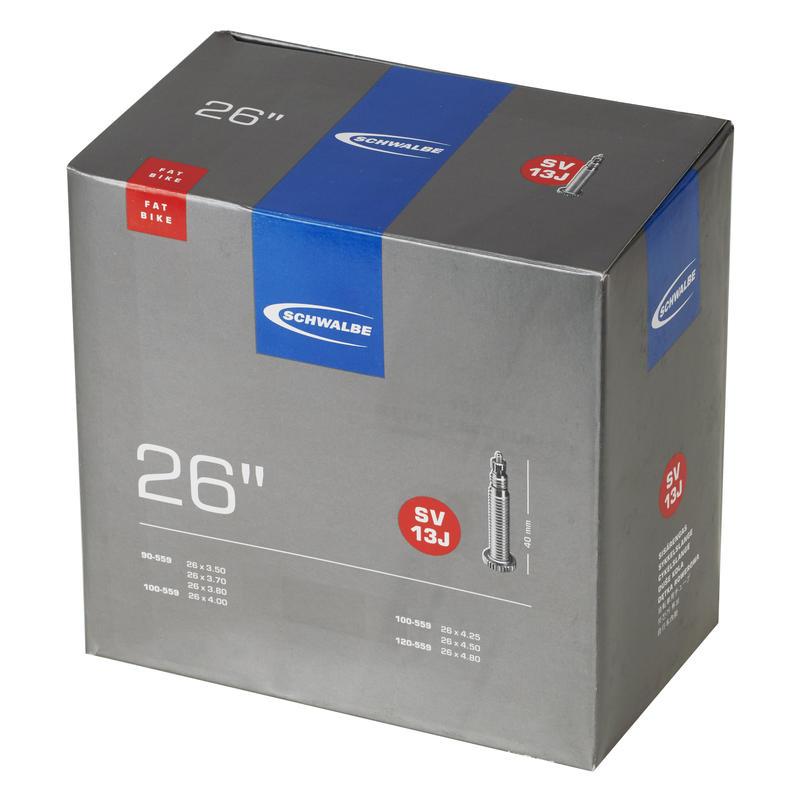 Chambre à air 26 X 3,5 à 4,8 (valve Presta) Noir
