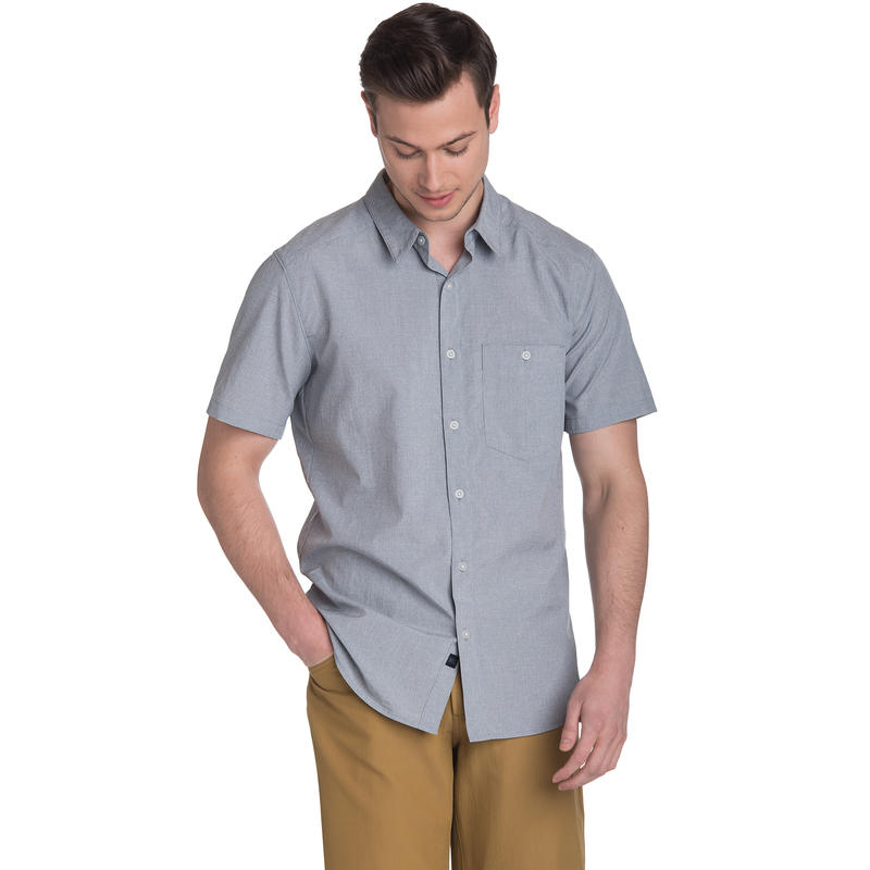Chemise Overlook à manches courtes Batiste bleu de minuit