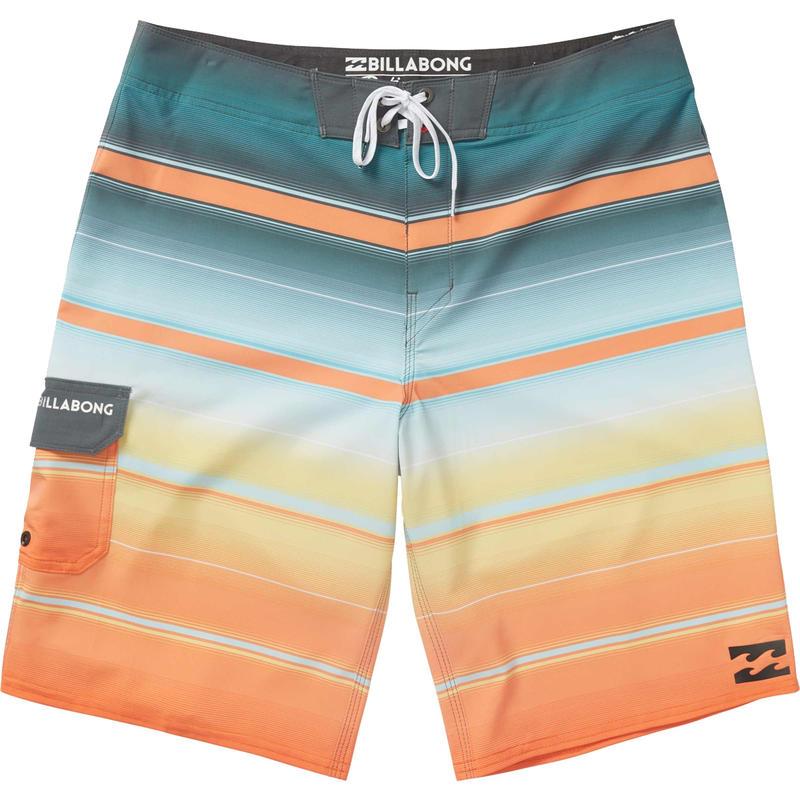 Short de surf All Day X à rayures Tangerine