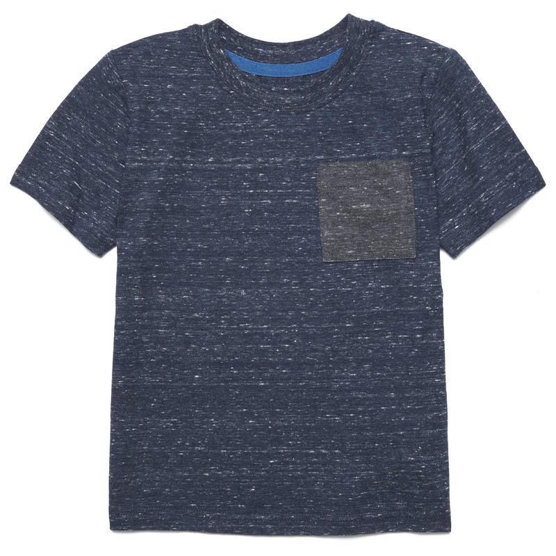 T-shirt Rylan Charbon chiné/Bleu chiné minuit