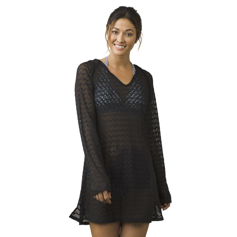 Luiza Long-Sleeved Coverup Black