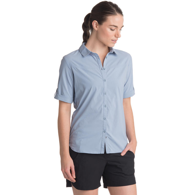 Dahlia Short-Sleeved Shirt Dusty Blue