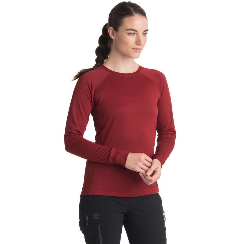 T2 Long-Sleeved Crew Red Bean