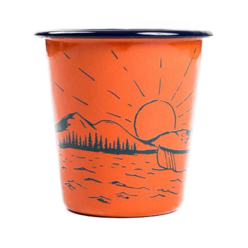 Sunrise Enamel Tumbler Sunrise Orange