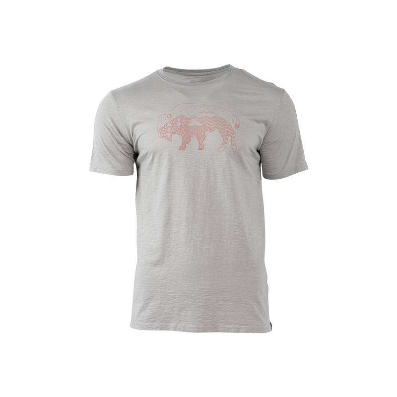 T-shirt Starry Bison Gris
