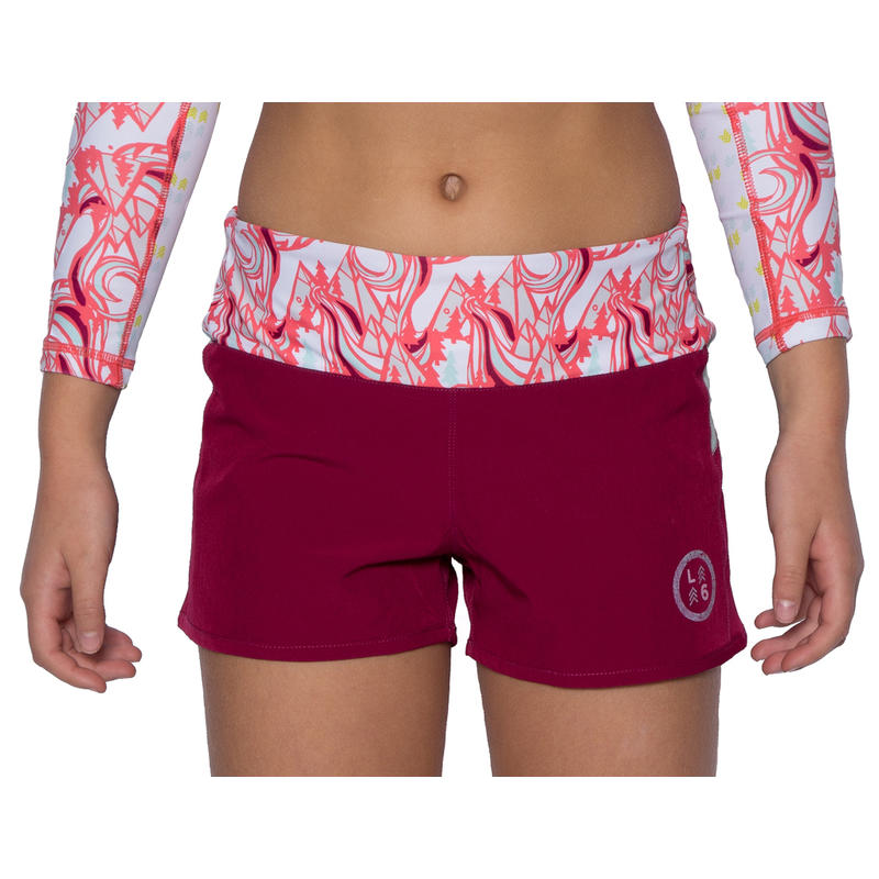 Azlyn Shorts Beet Red