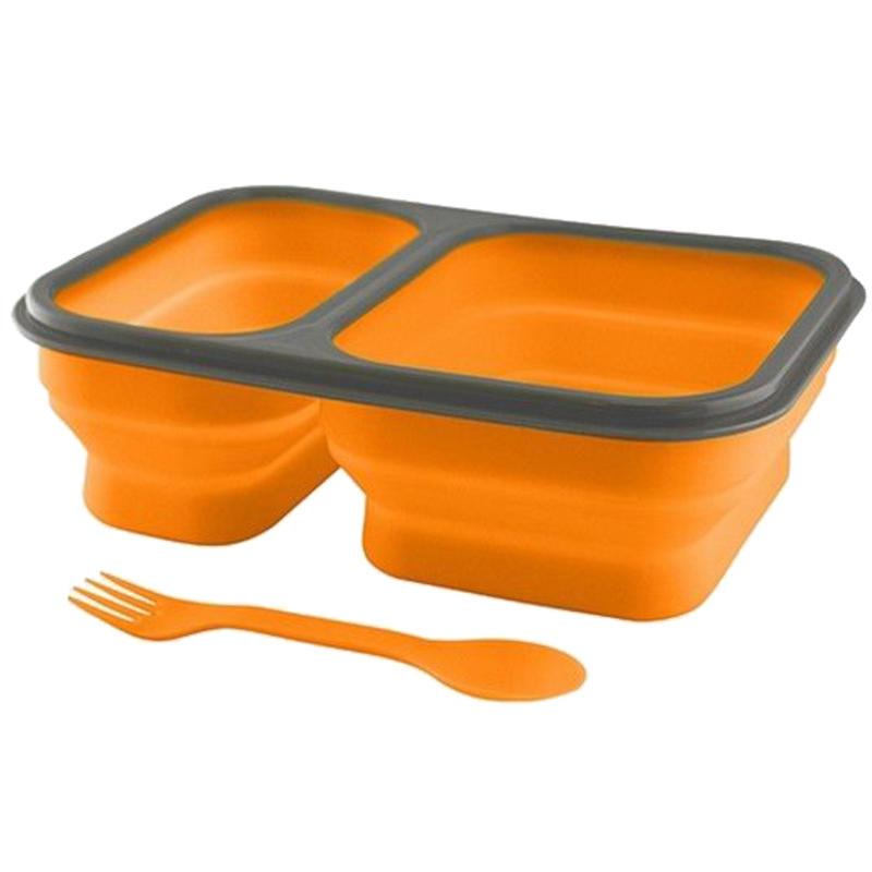 Contenant FlexWare 1.0 avec cuillère-fourchette Orange