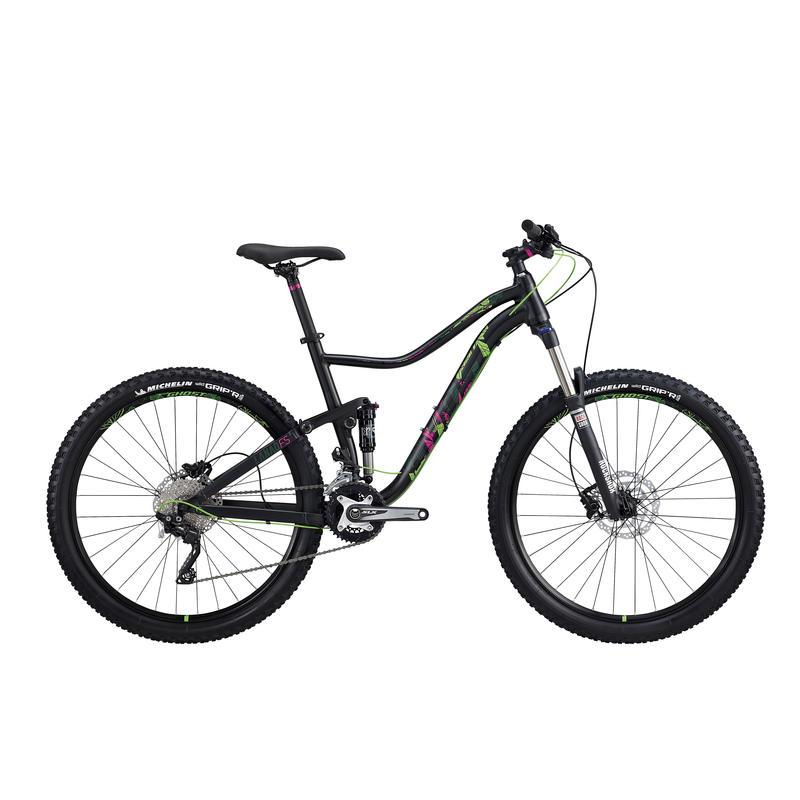 Vélo Lanao FS 3 Noir/Fuchsia