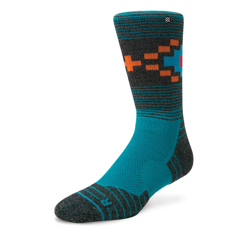 Chaussettes mi-mollets Hike Turquoise roues