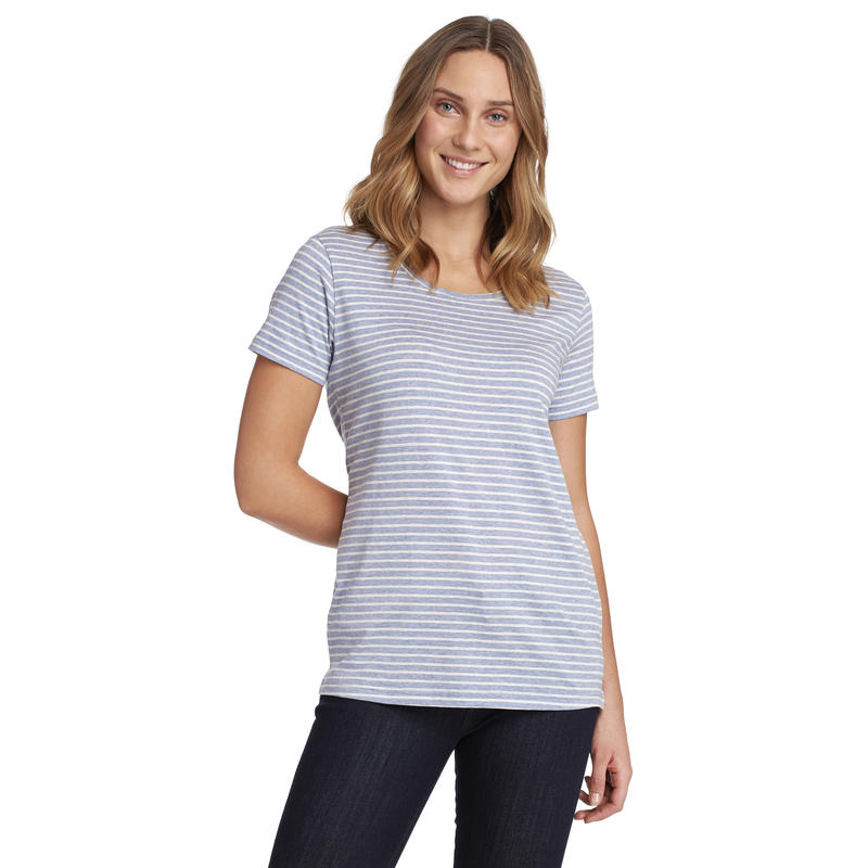 T-shirt Marin Rayures Mara chiné mousseline-chiné bleu voilé