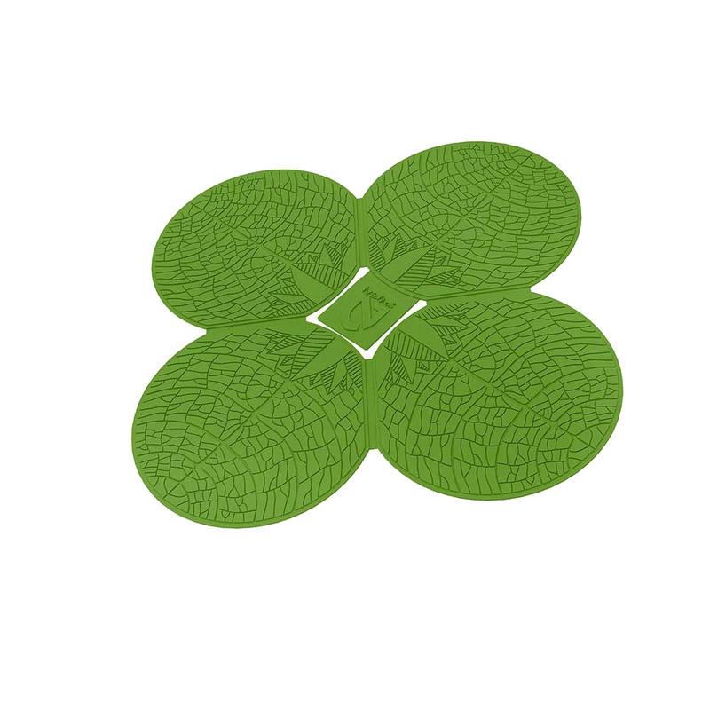 Tapis de douche Clover Vert feuille de bouleau