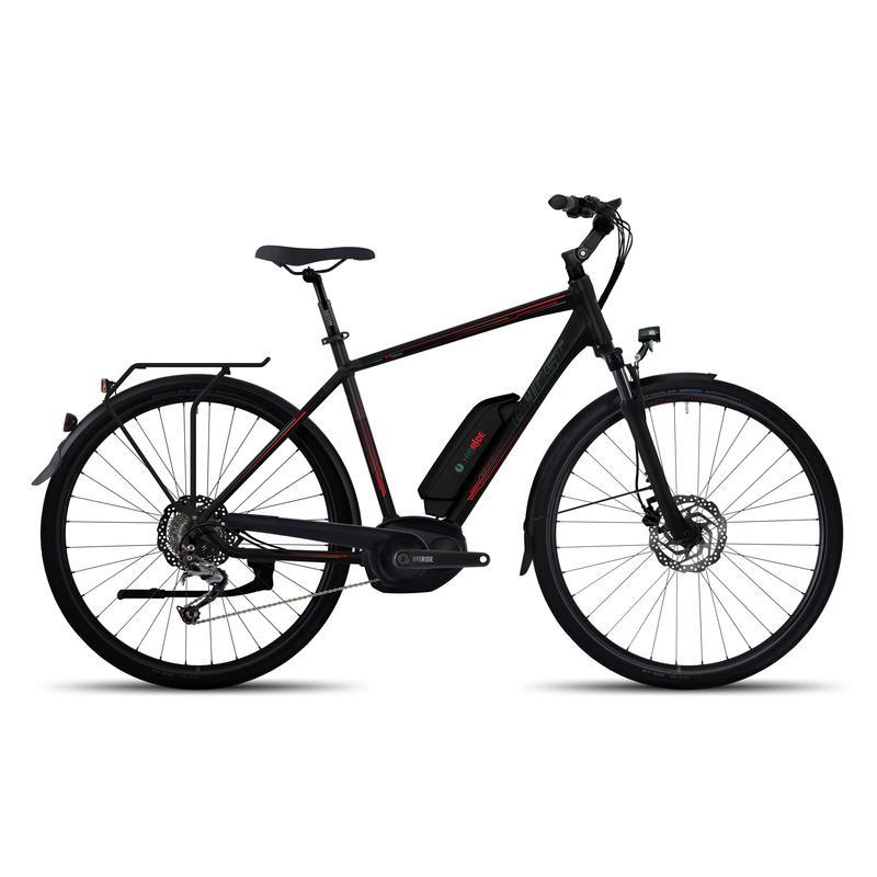 Vélo électrique Andasol Trekking 5 Noir nuit/Rouge néon