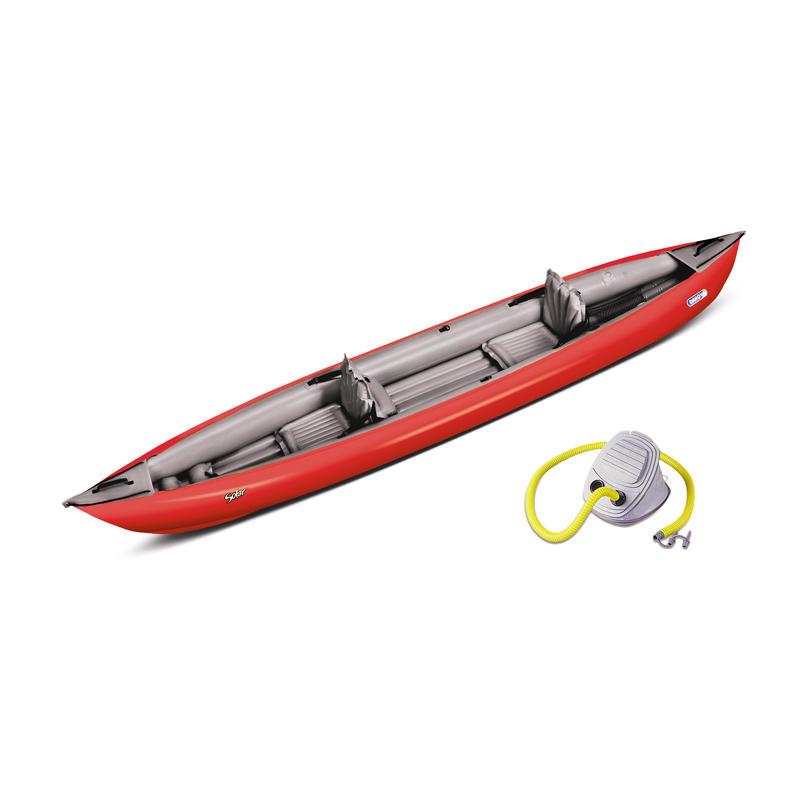 Kayak Solar 410 avec pompe Rouge/Gris