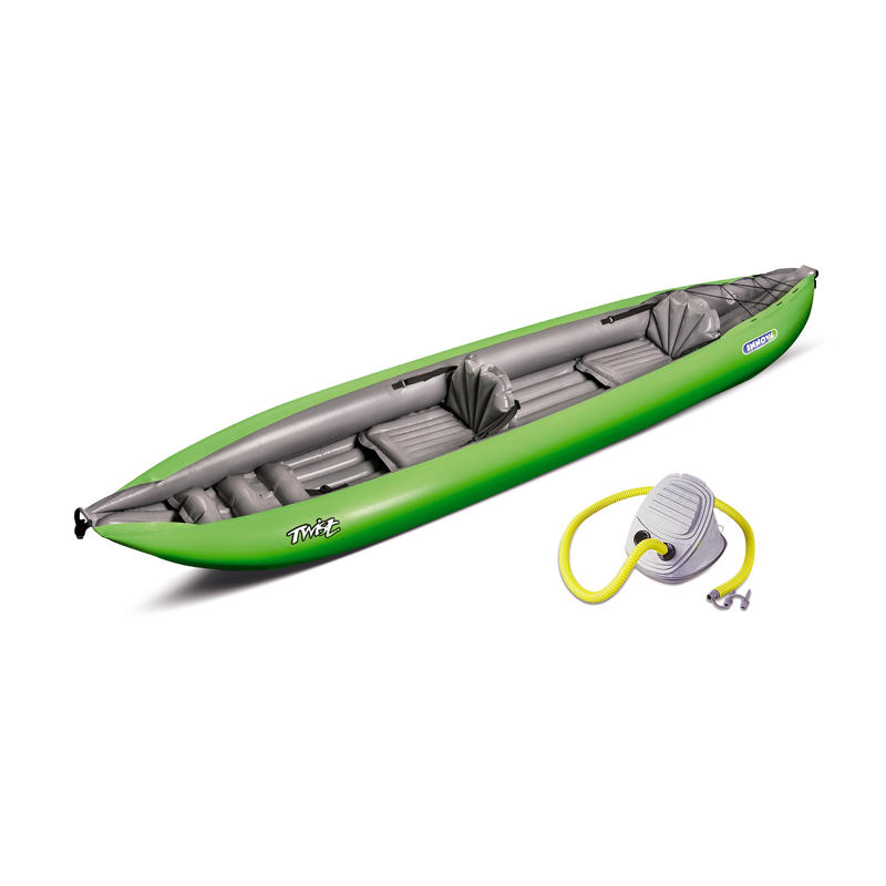 Double Twist Inflatable Kayak (w/pump) Green/Grey